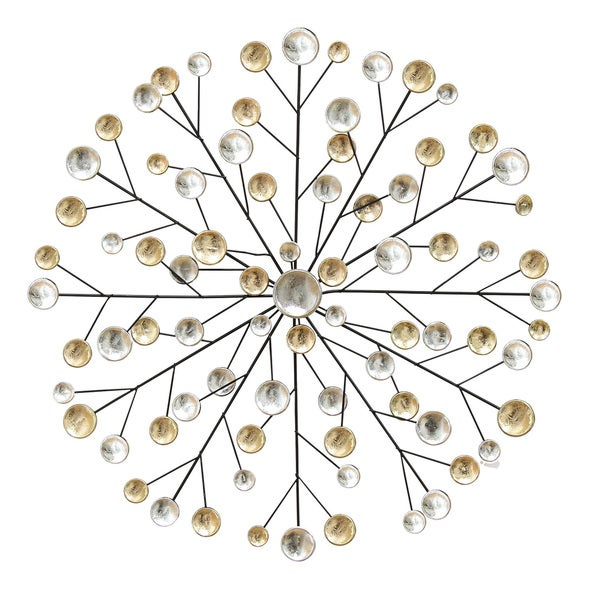 Shop Stratton Home Decor Gold/Silver Metallic Burst Wall Decor ...