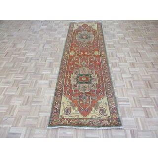 Serapi Heriz Rust Orange Wool Fine Hand-knotted Oriental Rug (2'11 x 9'9)