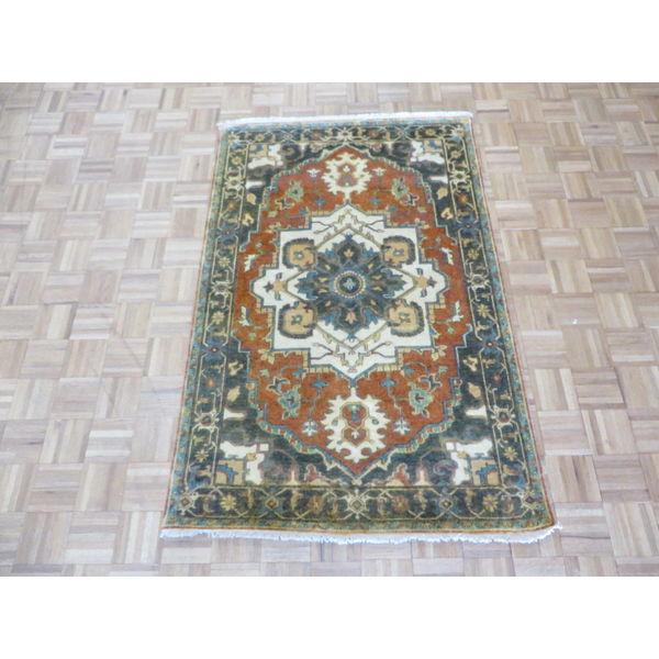 Hand Knotted Heriz Wool Fine Persian Oriental Area Rug: Shop Hand-knotted Fine Serapi Heriz Rust Red Wool Oriental