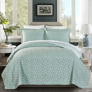 Brooklyn 100 Cotton Pre-Washed Reversible 3 piece Quilt Set