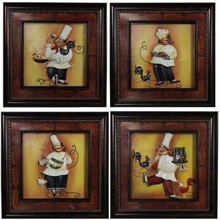 Attractive Chef Wall decor, Assorted of 4 - Benzara
