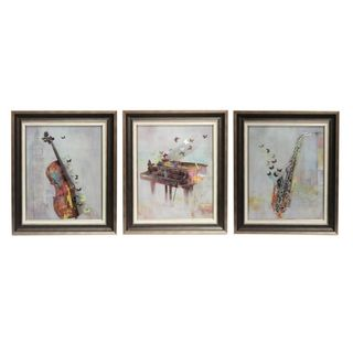 Musical Classic Wall Decor-Set of 3 - Benzara