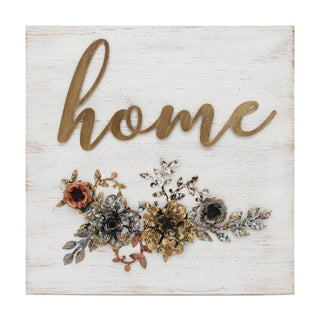 Stratton Home Decor Metal and Wood 'Home' Cottage Wall Decor