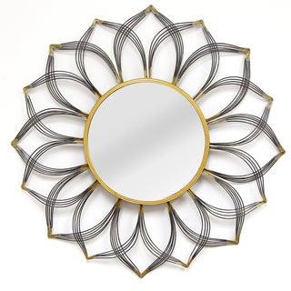 Stratton Home Decor Giselle Metal Wall Mirror, Black
