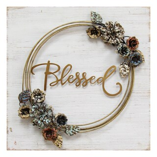 Stratton Home Decor 'Blessed' Cottage Wall Decor