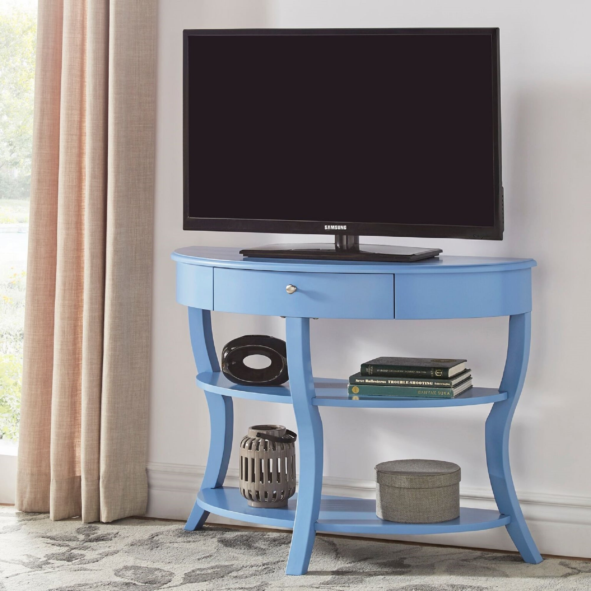 Burkhardt Rounded 1 Drawer Console Table TV Stand