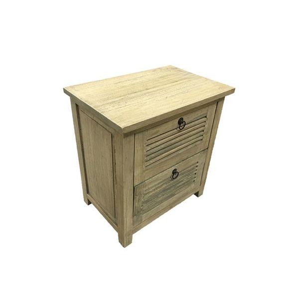 Benzara Brown Wood Side Table