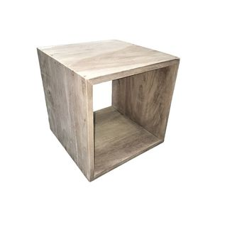 Brown Wood Modern Square Table