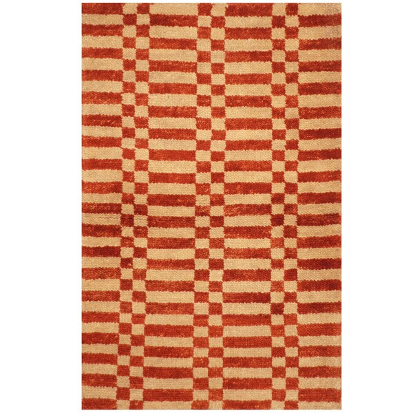 Handmade One-of-a-Kind Tibetan Wool Rug (India) - 2' x 3'. Opens flyout.