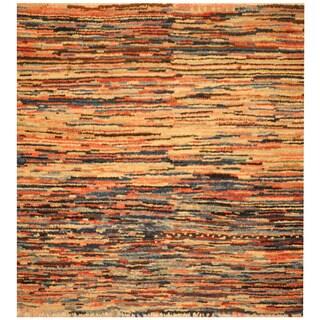 Herat Oriental Indo Hand-knotted Tibetan Wool Rug (2'10 x 3')
