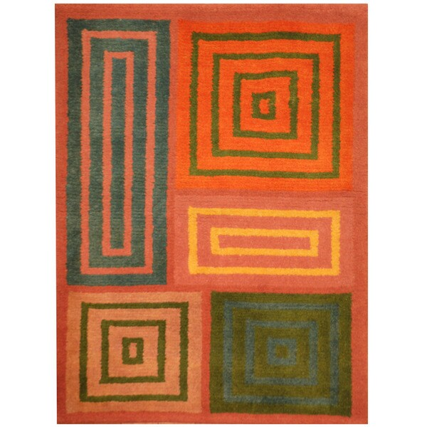 Herat Oriental Indo Hand-knotted Tibetan Wool Rug - 2'2 x 3'