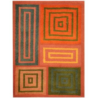 Herat Oriental Indo Hand-knotted Tibetan Wool Rug (2'2 x 3')