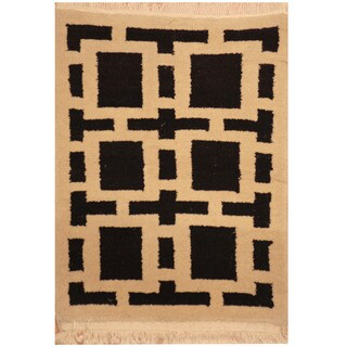Handmade Herat Oriental Indo Tibetan Wool Rug (India) - 2' x 3'