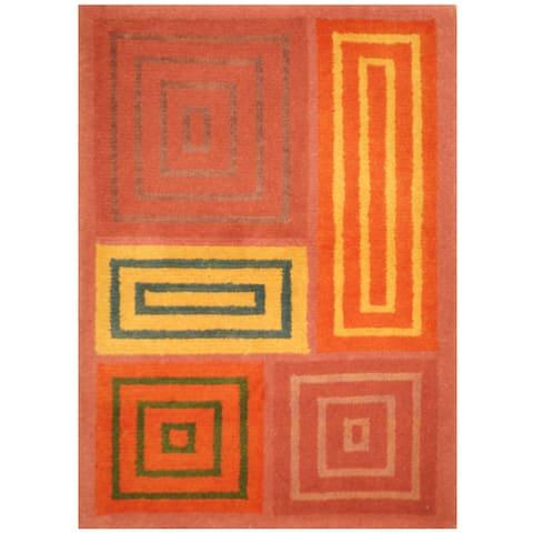 Handmade One-of-a-Kind Tibetan Wool Rug (India) - 2'1 x 3'