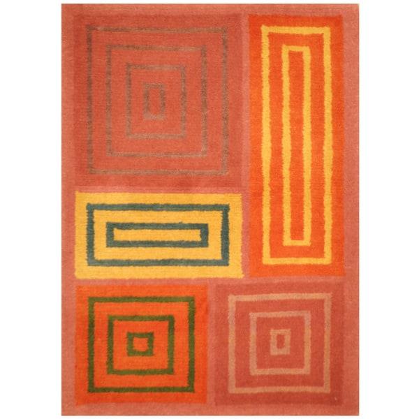 Herat Oriental Indo Hand-knotted Tibetan Wool Rug - 2'1 x 3'