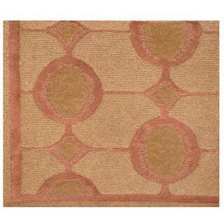 Herat Oriental Indo Hand-knotted Tibetan Wool Rug (1'10 x 2'2)