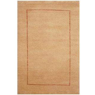 Herat Oriental Indo Hand-knotted Gabbeh Wool Rug (2' x 3')