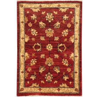 Handmade Vegetable Dye Oushak Wool Rug (Afghanistan) - 2' x 2'10