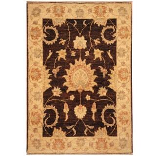 Handmade Vegetable Dye Oushak Wool Rug (Afghanistan) - 2'2 x 3'1
