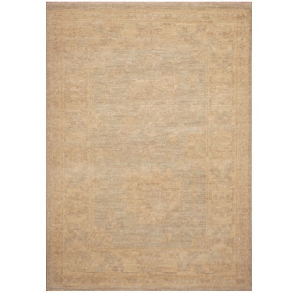 Handmade Vegetable Dye Oushak Wool Rug (Afghanistan) - 2'3 x 3'2