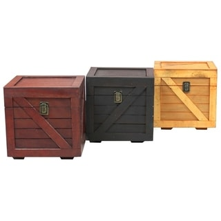 Wooden Stackable Lidded Crate