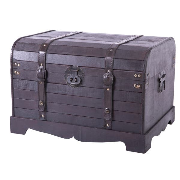 Phenomenal Shop Antique Style Black Wooden Steamer Trunk Coffee Table Evergreenethics Interior Chair Design Evergreenethicsorg