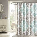 Madison Park Montecito Shower Curtain in Aqua (As Is Item)