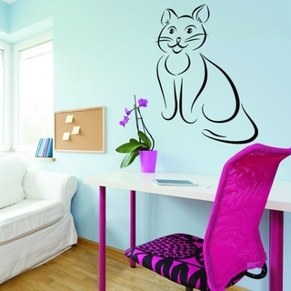 Abstract Cat II Wall Decal Sticker