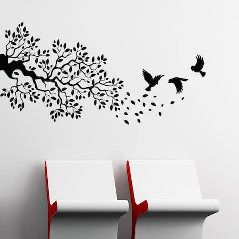 Birds and Branch Wall Decal