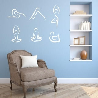 Abstract Yoga Poses Wall Decal