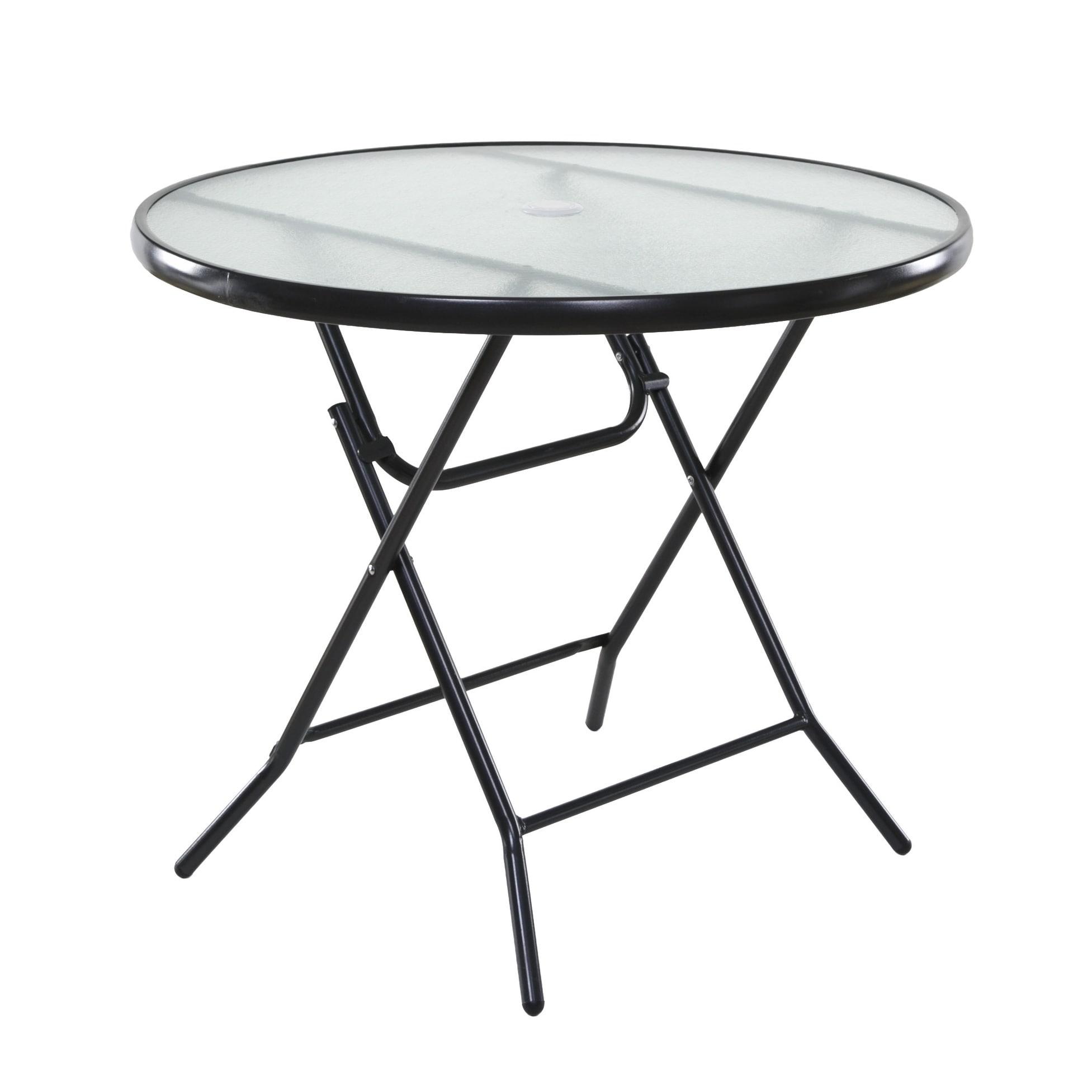 Basics 34 Round Folding Patio Table