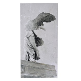 Winged Victory Grey Vintage-style Wall Print