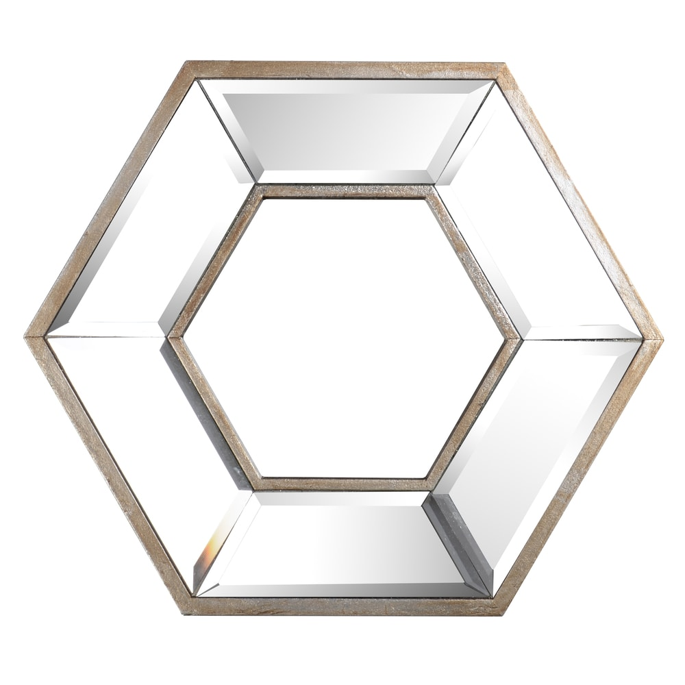 Hexagon Wall Mirror - Clear. Opens flyout.