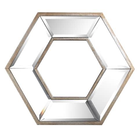 Hexagon Wall Mirror - Clear