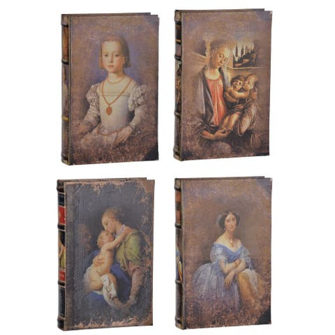 Faux Book Boxes (Pack of 4)