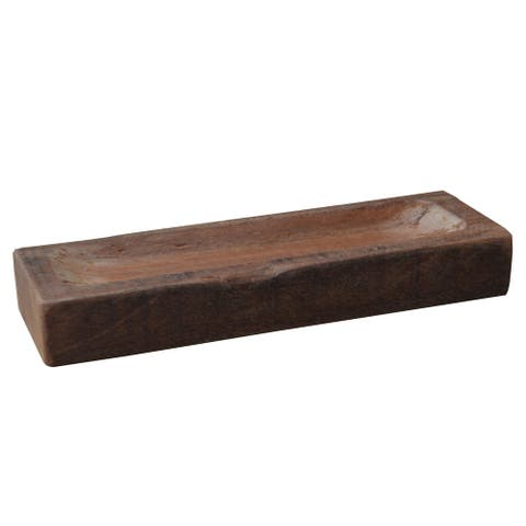 A&B Home Brown Wood Recycled Decorative Bowl