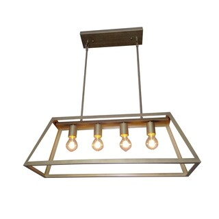 Y-Decor Boxie 4 Light Pendant Light in Antique Bronze