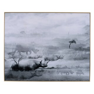 'Foggy Waterscape' Framed Print