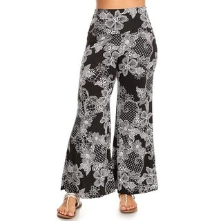 Women's Plus Size Floral Lace Pattern Pants