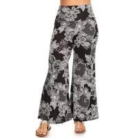 Women's Plus Size Floral Lace Pattern Pants
