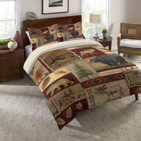 Laural Home Nature Lodge Collage Comforter