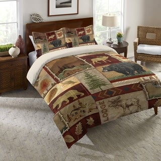 Laural Home Nature Lodge Collage Comforter Standard Pillow Sham