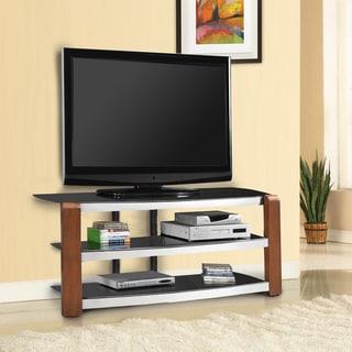 Fold 'N' Snap Lazio EZ Walnut Finish 55-inch TV Stand