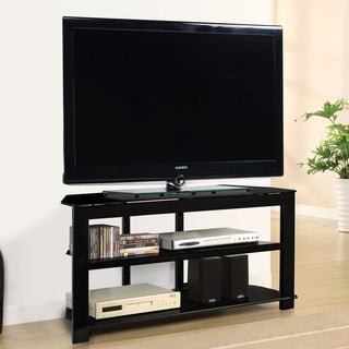 Fold 'N' Snap Oxnard EZ Black TV Stand