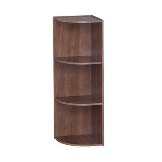 IRIS 3-tier Brown Corner Curved Shelf Organizer