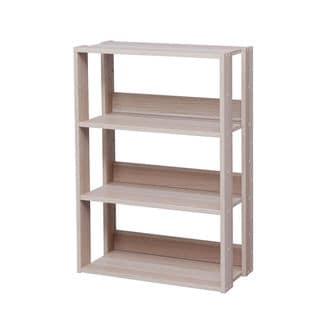 IRIS Mado Light Brown Wood Wide-open 3-shelf Shelving Unit