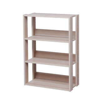 IRIS Mado 3-shelf Natural Wood Storage Shelving Unit