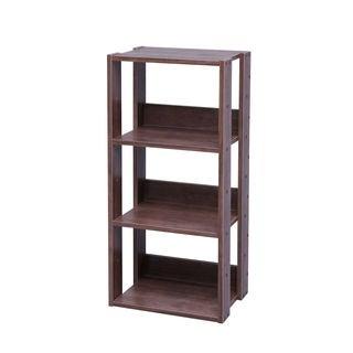 Iris Mado Brown Wood 3-shelf Open Shelving Unit