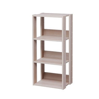 IRIS 3-shelf Light Brown Wood Storage Shelving Unit