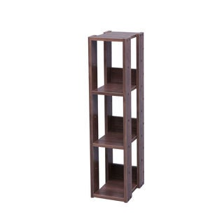 IRIS 3-shelf Brown Slim Wood Storage Shelving Unit